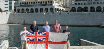 Ex Matelots celebrate Trafalgar Day at Rosia Bay Gibraltar