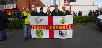 Norwich based supporters groups this Saturday before the PNE game